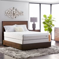 Natures Rest Plush Talalay 10-inch Full-size Latex Mattress Set - White/Brown