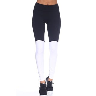 The Free Yoga Women's Two-Tone Slim Full-Length Workout Yoga Pants