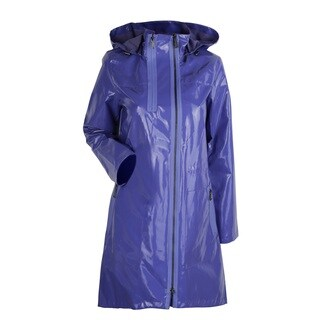 Elie Tahari Molly Lavender Polyurethane Trench Coat