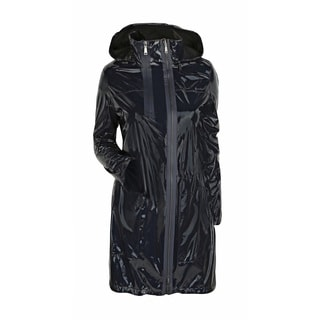 Womens black raincoat
