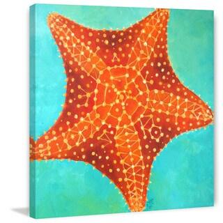 Marmont Hill - 'Orange Starfish' by Nicola Joyner Painting Print on Wrapped Canvas