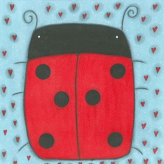 Marmont Hill - 'Ladybug' by Tatijana Lawrence Painting Print on Wrapped Canvas