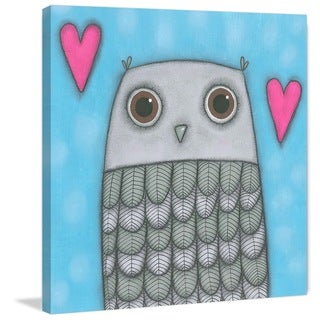 Marmont Hill - 'Owl' by Tatijana Lawrence Painting Print on Wrapped Canvas