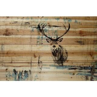 Parvez Taj - 'Looking for the Herd' Painting Print on Natural Pine Wood