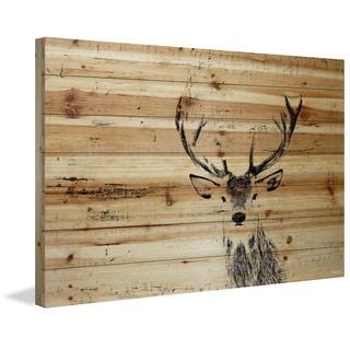 Handmade Parvez Taj - Inquisitive Deer Print on Natural Pine Wood