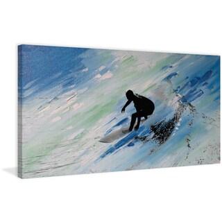 Parvez Taj - 'Downhill Swish' Painting Print on Wrapped Canvas