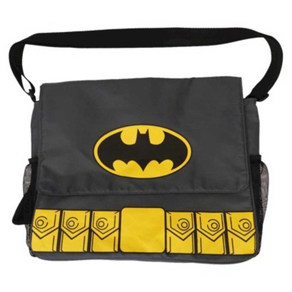 DC Comics Warner Brothers Batman Gray Messenger Diaper Bag