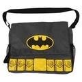 DC Comics Warner Brothers Batman Gray Messenger Diaper Bag