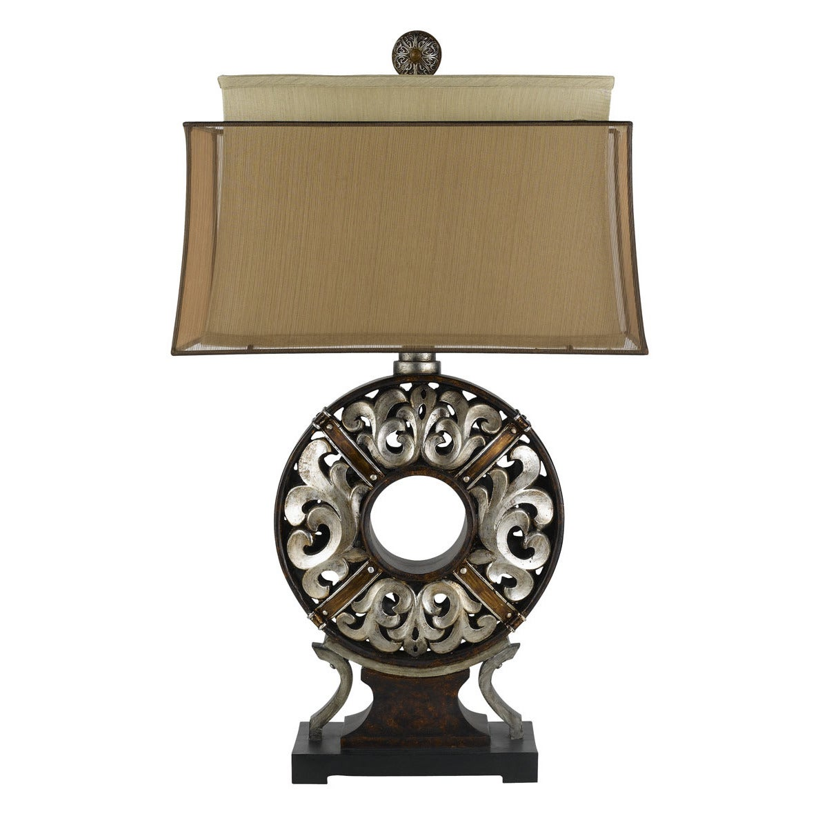 100W Clarion Resin Table Lamp (Table Lamp), Tan