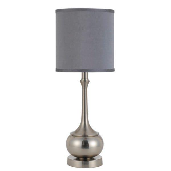 Silvertone Metal Accent Lamp