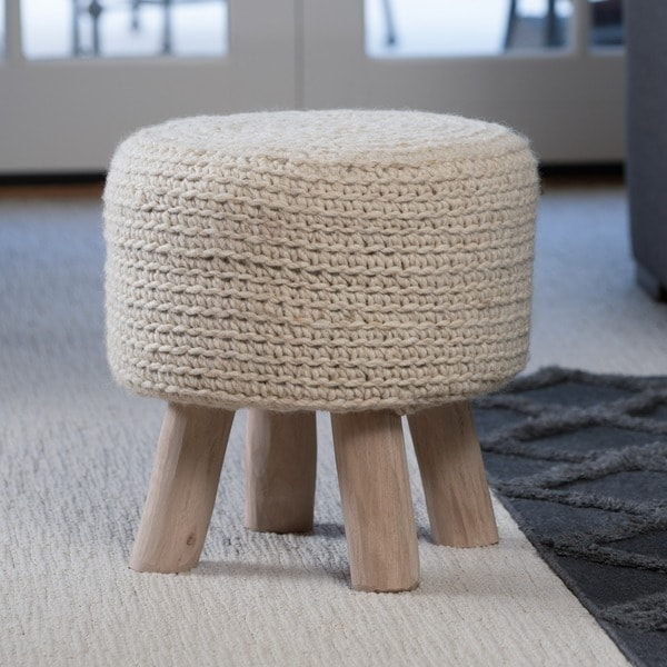 Christopher Knight Home Montana Knitted Fabric Round Ottoman Stool - Free Shipping Today - Overstock.com - 20345478 & Christopher Knight Home Montana Knitted Fabric Round Ottoman Stool ... islam-shia.org