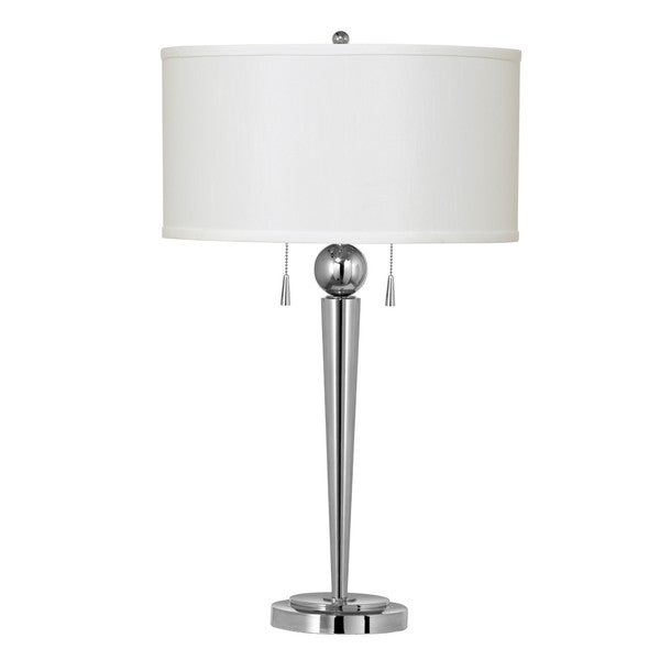 Messina 60-watt 2-light Metal and Chrome Table Lamp
