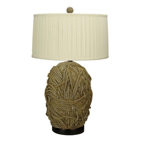 Off-white Terra-cotta Resin 150-watt 3-way 1-light Table Lamp