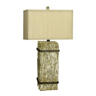 Ennis Yellow Resin 3-way Table Lamp