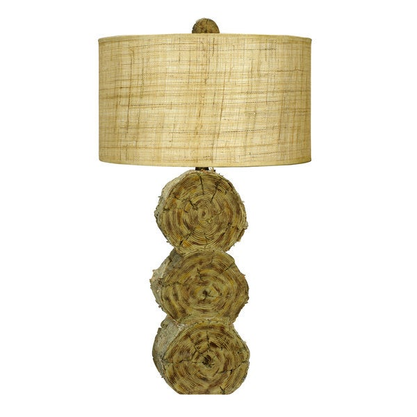 Lumber Jack Brown Resin 3-way Table Lamp