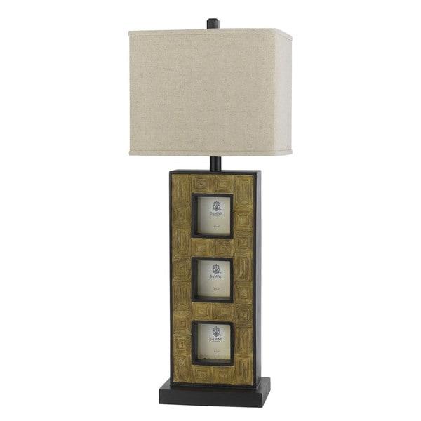 Resin 100-watt Buffet Lamp with 3 Photo Frames