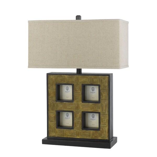 Off-White and Tan Resin 15-watt 3-way Table Lamp With Pictures