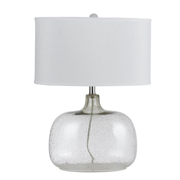 Christi Clear Glass 150-watt 3-way Table Lamp