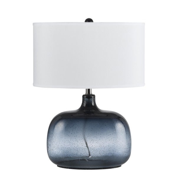 Christi Blue Glass 150-watt 3-way Table Lamp