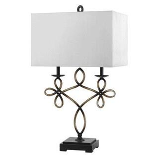 Norwalk Off-white/Bronze Resin Table Lamp
