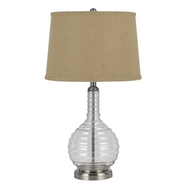 150-watt 3-way Glass Table Lamp