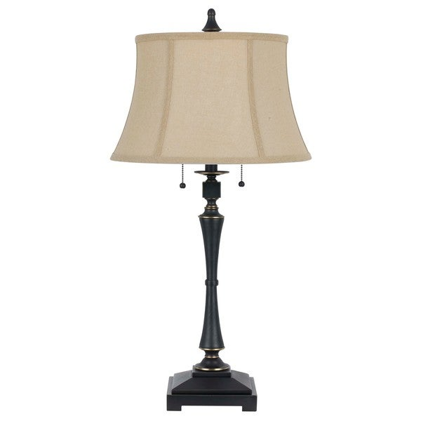 Madison Oil-rubbed Bronze Metal 60-watt 2-bulb Table Lamp