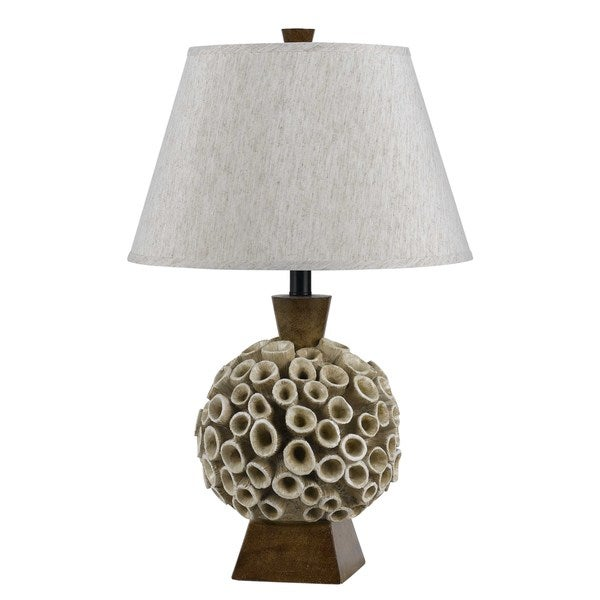 White/Brown Resin Coral Single-light Table Lamp