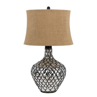 Puebla Brown/Silvertone Resin Table Lamp