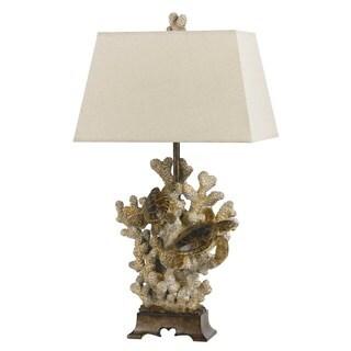 Brown Resin Coral Table Lamp