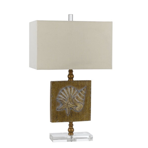 Coastal Tan/Brown Resin 150-watt Table Lamp