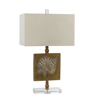 Coastal Tan/Brown Resin 150-watt Table Lamp
