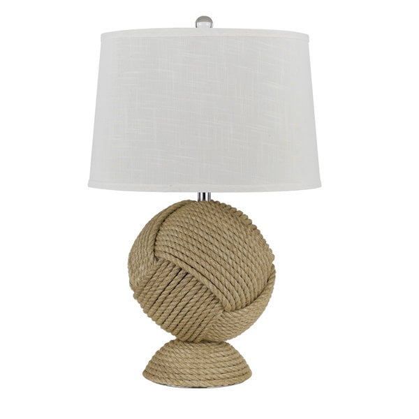 Reynosa Tan Resin 150-watt Table Lamp
