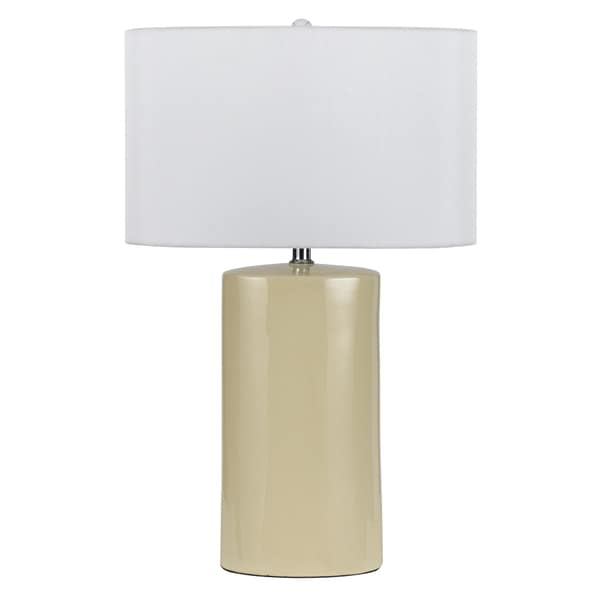 150W Minorca White, Off-white Ceramic Table Lamp