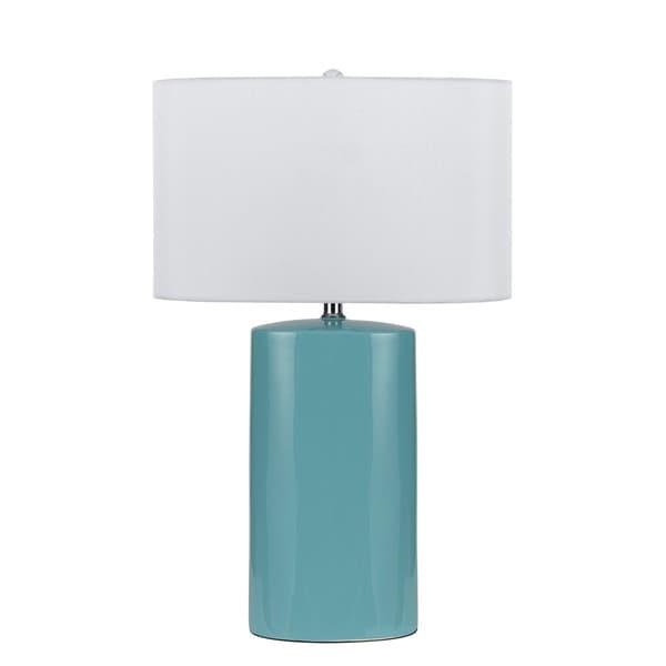 Beau 150W Minorca Blue, White Ceramic Table Lamp