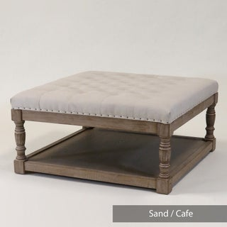 Cairona Tufted Textile 34-inch Shelved Ottoman (4 options available)