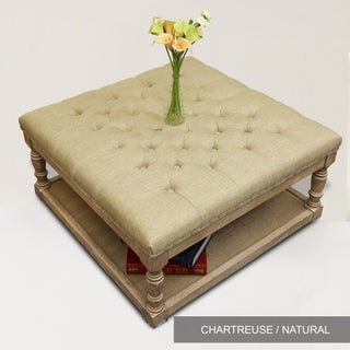 Cairona Tufted Textile 34-inch Shelved Ottoman (Optional Colors)