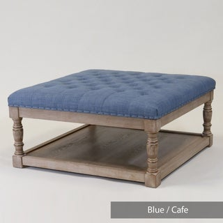 Cairona Tufted Textile 34-inch Shelved Ottoman (2 options available)