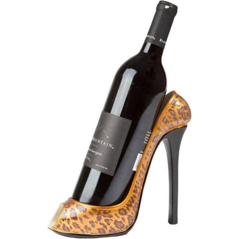 Trademark Innovations KitchInspirations Leopard-print 1-bottle High Heel Wine Bottle Holder Wine Rack