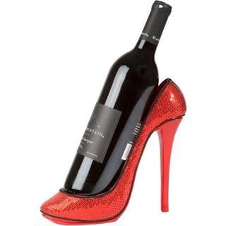 Trademark Innovations KitchInspirations Sequin High Heel Bottle Holder Wine Rack