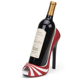 Trademark Innovations KitchInspirations Striped High Heel Wine Bottle Holder Four Attractive Style Variations Available