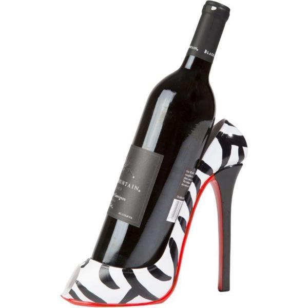 Trademark Innovations Kitchinspirations Zebra Print High Heel Wine Bottle Holder Rack Free Shipping On Orders Over 45 13681420