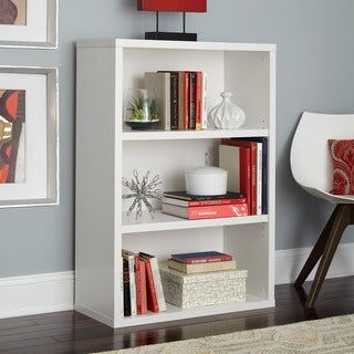 Decorative White 3-shelf Unit