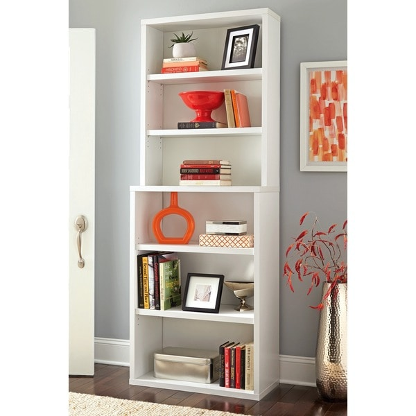 Incroyable ClosetMaid Premium White 6 Shelf Hutch Bookcase
