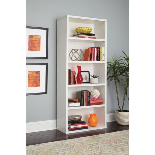 Closetmaid Premium White 5 Shelf Adjule Bookcase