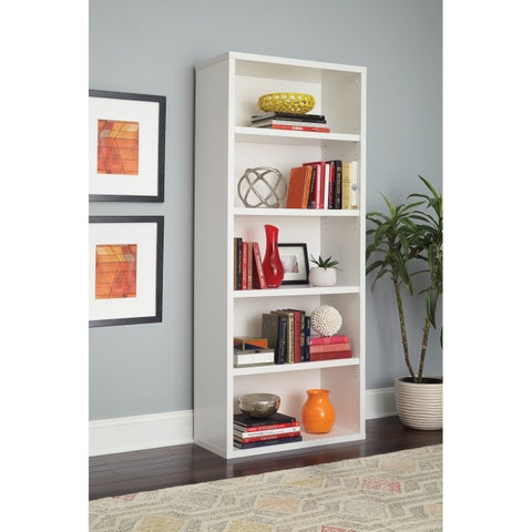 ClosetMaid Premium White 5-shelf Adjustable Bookcase