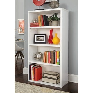 Decorative White 4-shelf Unit