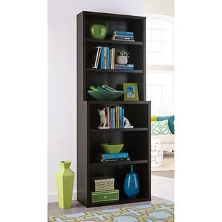 Decorative Black Walnut 6-shelf Hutch Bookcase