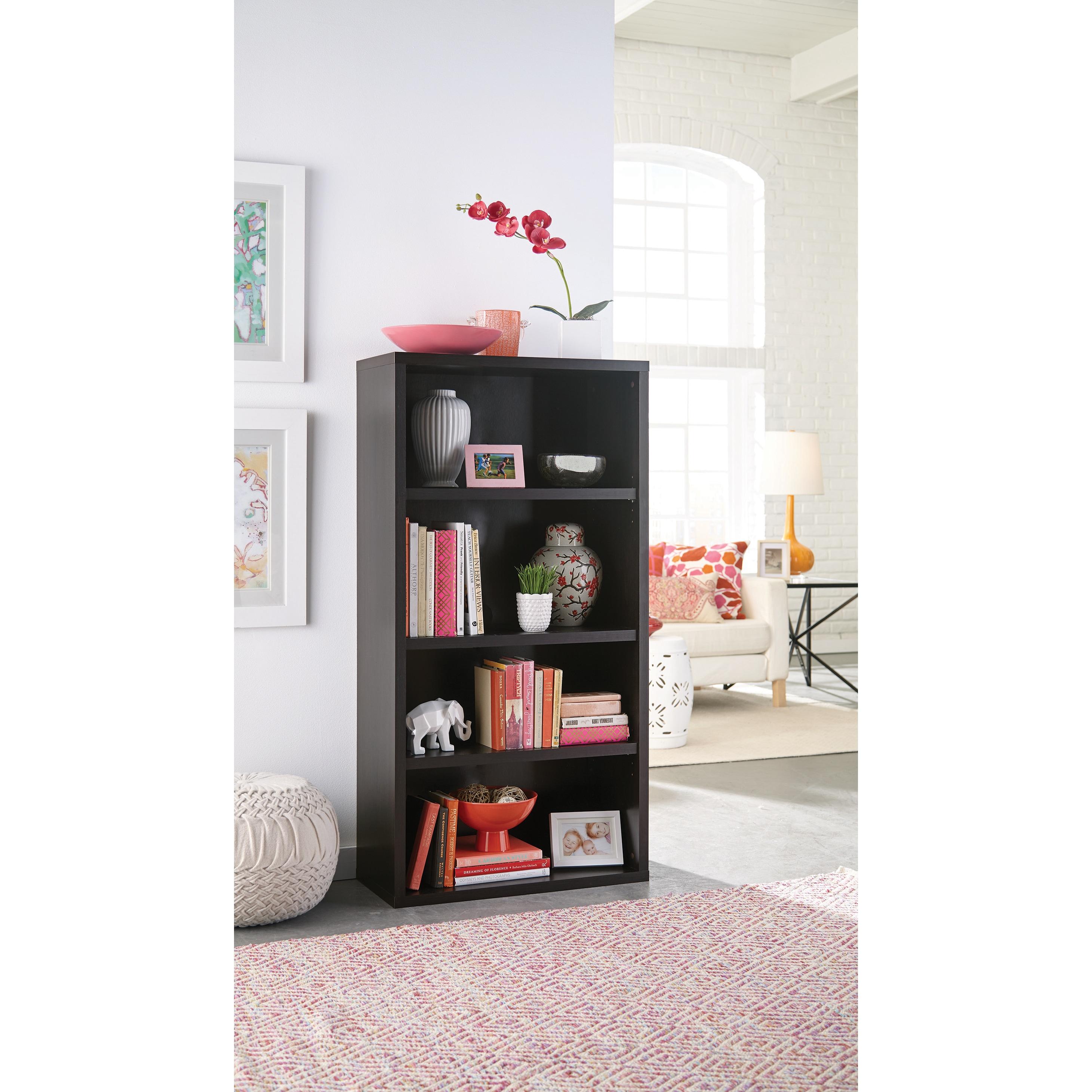Closetmaid Premium Black Walnut 4 Shelf Adjustable Bookcase