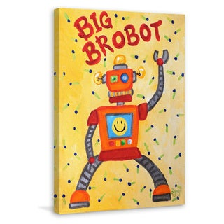 Marmont Hill - 'Big Brobot' by Nicola Joyner Painting Print on Wrapped Canvas