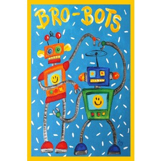 Marmont Hill - 'Brobots' by Nicola Joyner Painting Print on Wrapped Canvas